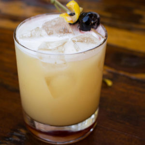 Apricot Infused Whiskey Sour